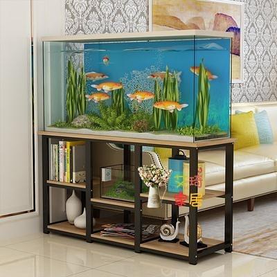 魚缸架 大型魚缸架 實木水族箱架子魚缸底櫃龜缸架多層家用 客廳魚缸架子T