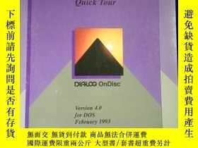 二手書博民逛書店DIALOG罕見On Disc Quick Tour Version 4.0 for DOS February 1