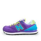 New Balance WL574 [WL574BFU] 女鞋 休閒 經典 運動 紫 藍 橘 總統