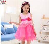 衣童趣♥韓版女童甜美拉鍊紗網洋裝 可愛氣質澎澎裙洋裝 舞台表演公主裙 【六碼】