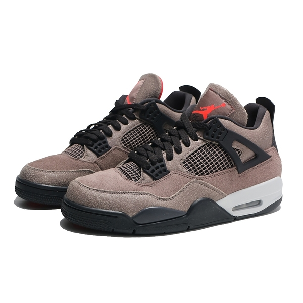 NIKE 籃球鞋 AIR JORDAN 4 TAUPE HAZE 摩卡 灰黑 復刻 四代 男 (布魯克林) DB0732-200
