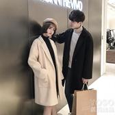秋冬季毛呢大衣男女韓版中長款呢子風衣情侶裝外套潮流 『優尚良品』