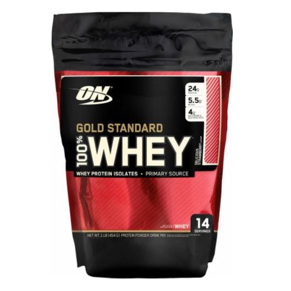 【即期品】ON Whey Protein金牌低脂乳清蛋白1磅 (草莓) 效期:2020.07