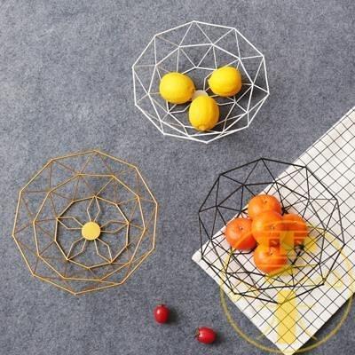 北歐風創意果盤家用客廳茶幾鐵藝水果籃果盆桌面收納【雲木雜貨】
