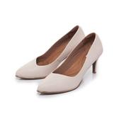 ~Fair Lady ~芯太軟波紋斜口修飾尖頭高跟鞋粉