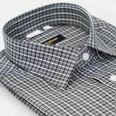 【金‧安德森】黑白線格窄版長袖襯衫