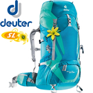 Deuter 3340015_藍/綠 35+10SL輕量拔熱式透氣背包 Act Lite登山健行背包