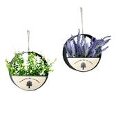 田園創意墻面壁飾裝飾花籃壁掛簡約圓形房子花器花卉房子植物花盆