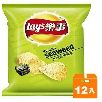 Lay s 樂事 九州岩燒海苔味洋芋片(小) 43g (12入)/箱【康鄰超市】