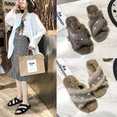 毛毛拖鞋女韓版新款夏外穿社會