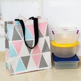 棉麻帆布包手拎折疊便當飯盒袋