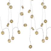 USB星星燈串-木藝雪花(黃光)