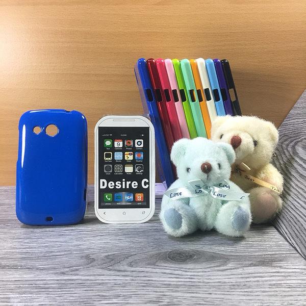 ◎大都會保護殼 HTC Desire C A320E/Desire VC T328d 保護殼 TPU 軟殼 閃粉 矽膠殼 手機殼 背蓋