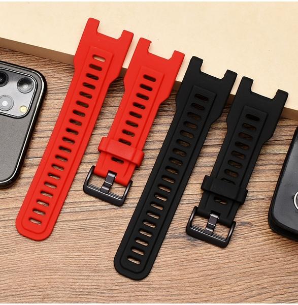 【矽膠錶帶】Amazfit T-Rex 霸王龍 A1918 智慧 智能 26mm 手錶替換純色運動透氣腕帶