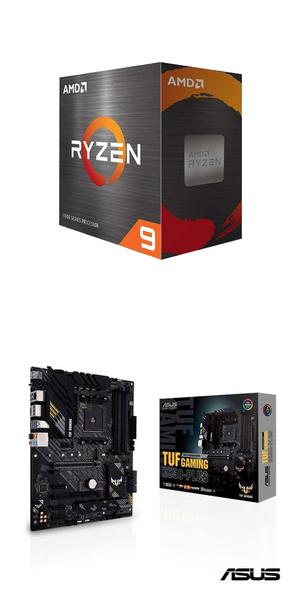 【自組DIY兩件組R59】AMD R9 5900X+華碩 TUF GAMING B550-PLUS