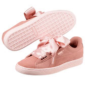 Puma Suede Heart Pebble 女鞋 休閒 緞帶鞋 蝴蝶結 麂皮 粉紅 【運動世界】 36521001