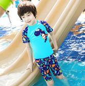 兒童泳衣男童泳褲套裝男孩分體小恐龍游泳衣
