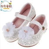 《布布童鞋》可愛蕾絲花團閃亮銀白兒童公主鞋(15.5~20公分) [ K9H958M ]