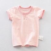 兒童體恤純棉新款日系女童短袖t恤年夏季女寶寶半袖透氣印花 快速出貨