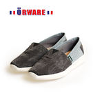 ORWARE-雙色拼接帆布休閒鞋652067-02(黑)