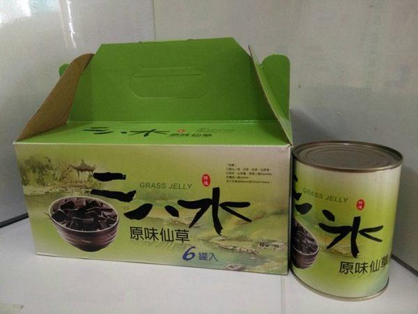 二八水原味仙草 540gx6罐/禮盒裝