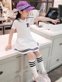 女童裙子正韓童裝女童裙子夏裝公主連衣裙2019新款夏季學院風兒童洋氣潮衣【免運】