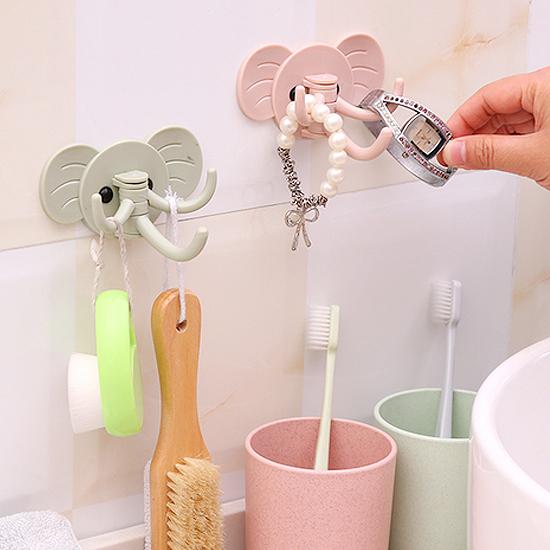 創意大象多用掛勾 廚房 浴室 居家 黏貼 門後 強力 免釘 懸掛 收納 小物【M088】MY COLOR