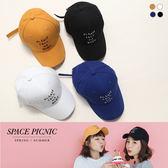 棒球帽 Space Picnic|現+預.刺繡字母設計棒球帽【C18062008】