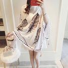新款時尚棉質柔軟絲巾圍巾 文藝空調披肩 披肩圍巾110