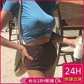 【現貨】梨卡-氣質甜美[高腰遮肚+顯瘦]保守款二件式短袖防曬比基尼兩截式泳裝泳衣CR431-1