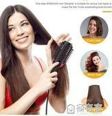 現貨四合一熱風梳廠家直銷亞馬遜跨境二合一多功能負離子美髮梳吹風梳 極有家
