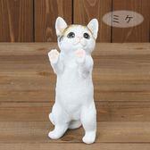 《齊洛瓦鄉村風雜貨》日本zakka雜貨 貓咪系列擺飾 動物模型 站著貓咪 討東西吃的貓咪 貓咪裝飾