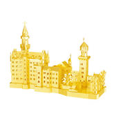 金屬模型3D立體拼圖金屬模型手工DIY德國天鵝堡建筑成人拼裝益智玩具禮品liv·樂享生活館