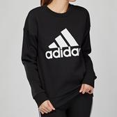 Adidas Essentials 女款 黑色 圓領 長袖 上衣 EB3815