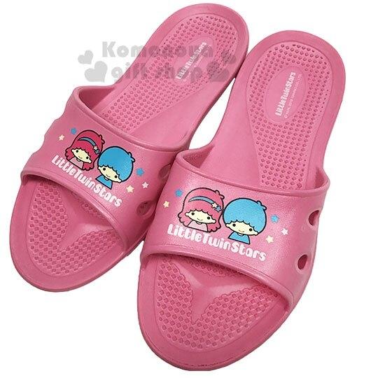 〔小禮堂〕雙子星 極輕防滑塑膠拖鞋《粉.星星》室內拖鞋.浴室拖鞋_713052-38963