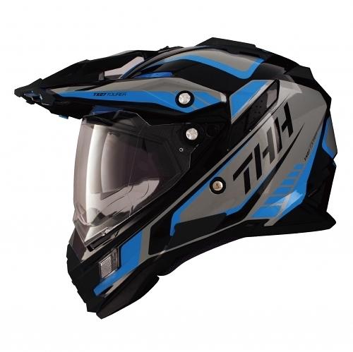 THH TX27 TX27A 全罩 安全帽 越野帽 遮陽鏡片 雙層鏡片 《鋼鐵英雄》黑/藍 黑藍(好禮3選1)