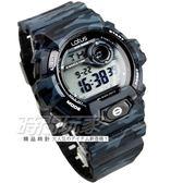 Lotus 時尚錶 潮流時尚 電子錶 男錶 運動錶 迷彩 日期 計時碼表 夜光 橡膠錶帶 TP1342M-01彩黑