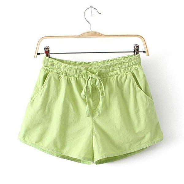 雙十二狂歡購短褲女夏寬鬆大碼闊腿居家運動棉麻短褲薄款外穿亞麻高腰休閒褲子