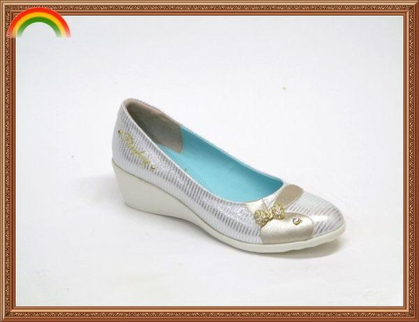 ★YE1105❤ PLAYBOY 舒適柔軟 氣質蝴蝶結百搭  楔型包鞋/上班鞋/低跟包鞋