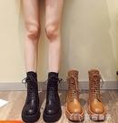馬丁靴馬丁鞋子女英倫風新款春秋短靴百搭秋季顯瘦靴子冬季厚底靴 快速出貨