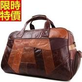 行李袋-肩背時尚歐美復古休閒大容量男手提包66b48[巴黎精品]