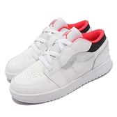 Nike 童鞋 Jordan 1 Low ALT PS 白 黑 紅 魔鬼氈 中童鞋 魔鬼氈【ACS】 BQ6066-160