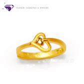 【YUANDA】『浪漫來襲』黃金戒指 活動戒圍-純金9999國家標準