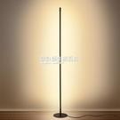 極簡創意落地燈臥室客廳個性氛圍燈北歐簡約led立燈地燈落地台燈 NMS設計師