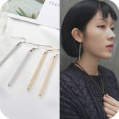 歐美 飾品 氣質 個性 百搭 極簡風 耳釘 女款 金線 銀線 線型 長款 耳環 耳飾 耳墜