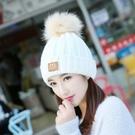 帽子女冬季學生潮韓版針織包頭秋冬天加絨百搭毛線帽保暖護耳休閑 黛尼時尚精品