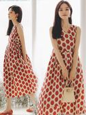 米蘭 孕婦洋裝夏季中長款仙女超仙純棉背心裙子夏天波點長裙寬鬆夏裝