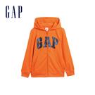Gap男童 Logo棉質舒適拉鍊連帽外套 554448-亮橘色