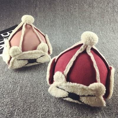 加絨加厚帽麂皮絨嬰兒保暖帽男女童雷鋒帽GZX-2062