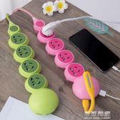 個性創意插板帶USB卡通插座可愛接線板帶線多功能面板多孔爬墻  可可鞋櫃